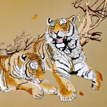 """Stickbild """"Tiger in Gold"""""""
