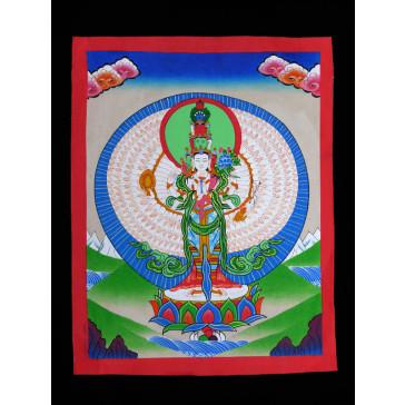 Thangka, Avalokiteshvara mit tausend Armen (Bodhisattva)