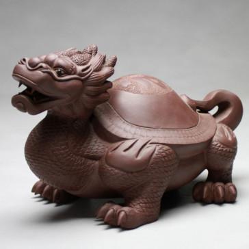 Tonfigur Drachen-Schildkröte