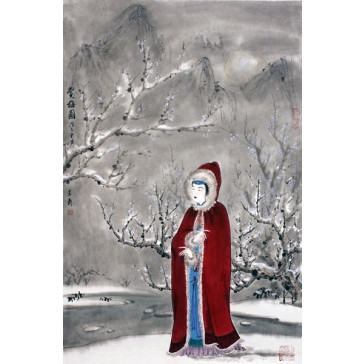 "Wang Xuan ""Winterblumen"", chinesische Malerei"