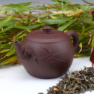 "Yixing Teekanne ""Kostbarer Bambus"", Pao Zhun"
