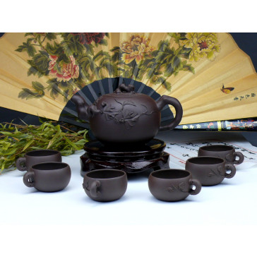 "Yixing Teeservice ""Mystisch"", Pu Tao (braun)"