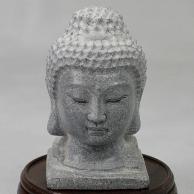 buddha kopf stein klein garten deko. Black Bedroom Furniture Sets. Home Design Ideas