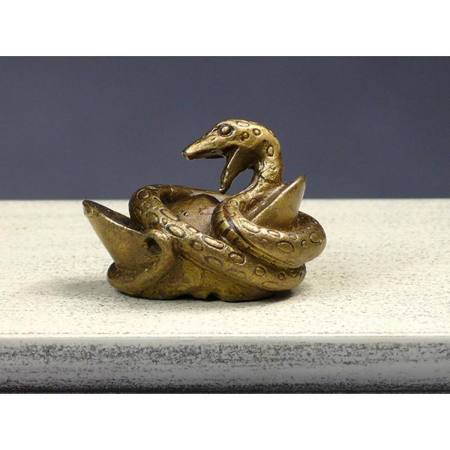 bronzefigur die chinesischen tierkreiszeichen die schlange aus wuhan original chinesische. Black Bedroom Furniture Sets. Home Design Ideas