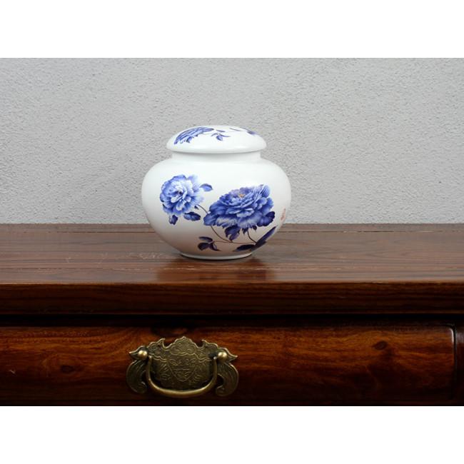 chinesische teedose pfingstrose porzellan. Black Bedroom Furniture Sets. Home Design Ideas