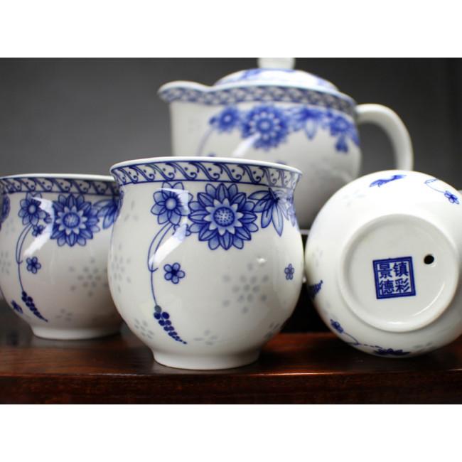 chinesisches teeservice aus reiskorn porzellan fr hlingsblumen. Black Bedroom Furniture Sets. Home Design Ideas