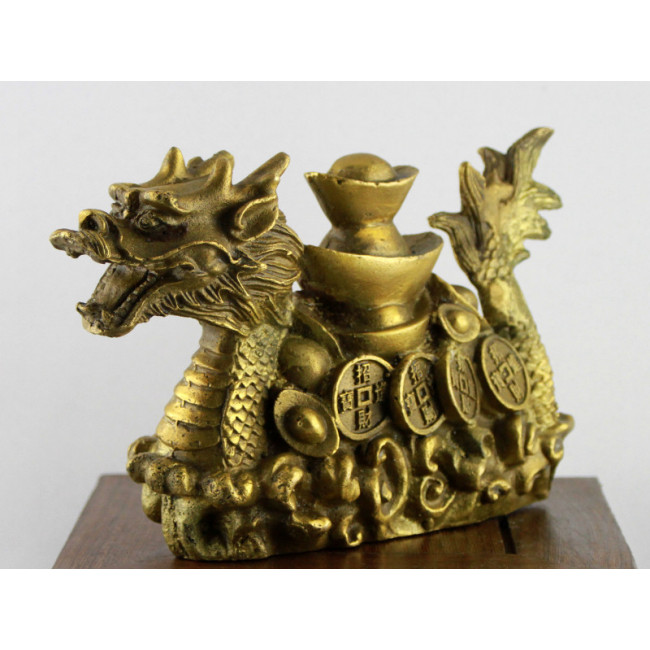 feng shui drache gl cksdrache messing skulptur. Black Bedroom Furniture Sets. Home Design Ideas