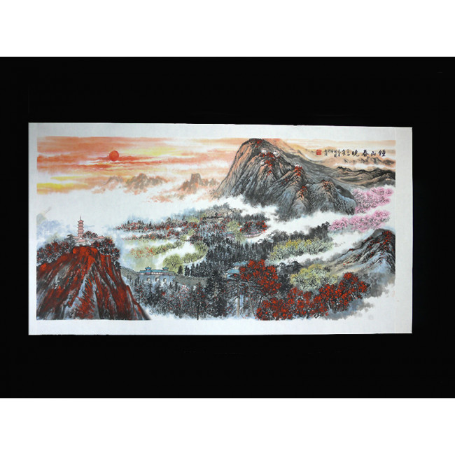 Chinesische malerei morgenlicht peng guo lan for Moderne landschaftsbilder