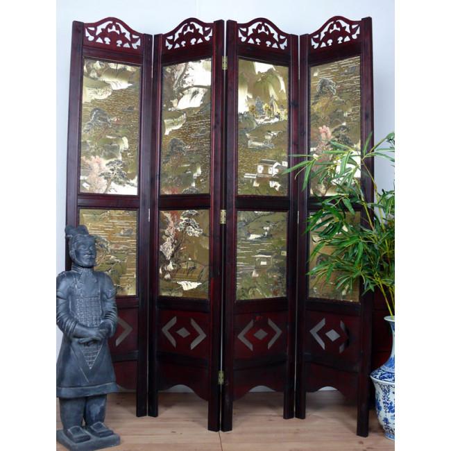 paravent herbst am yangtse raumteiler aus dongyang. Black Bedroom Furniture Sets. Home Design Ideas