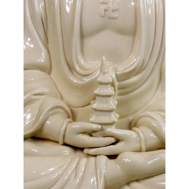 "Blanc de Chine /""Buddha Tathagata/"" Große Porzellanfigur Porzellan Skulptur"