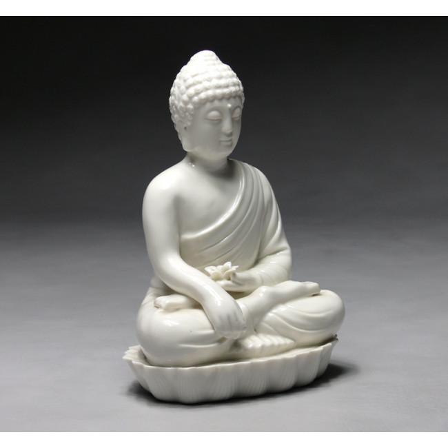 porzellanfigur wei guanyin mit lotusbl te aus jingdezhen porzellan. Black Bedroom Furniture Sets. Home Design Ideas