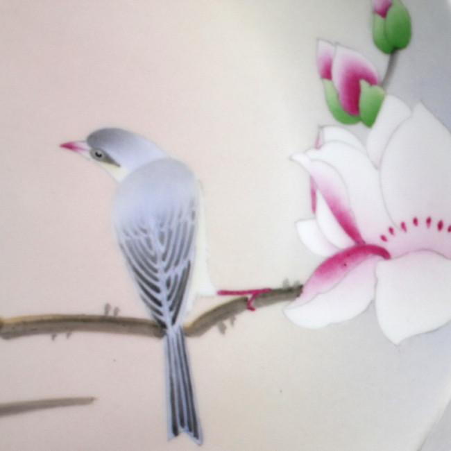 porzellan deckeldose mit schmuckteller set vogel im. Black Bedroom Furniture Sets. Home Design Ideas