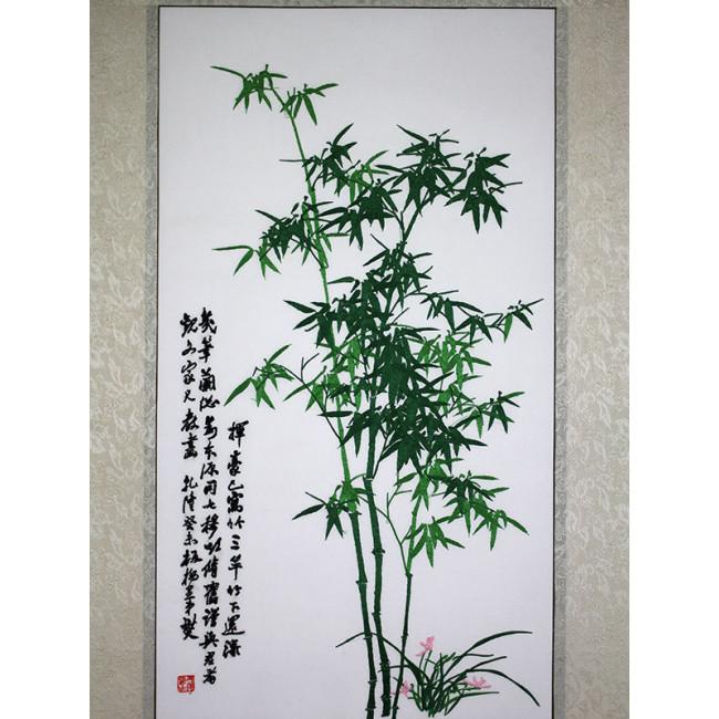 stickbild bambus gr n chinesisches bild aus suzhou. Black Bedroom Furniture Sets. Home Design Ideas