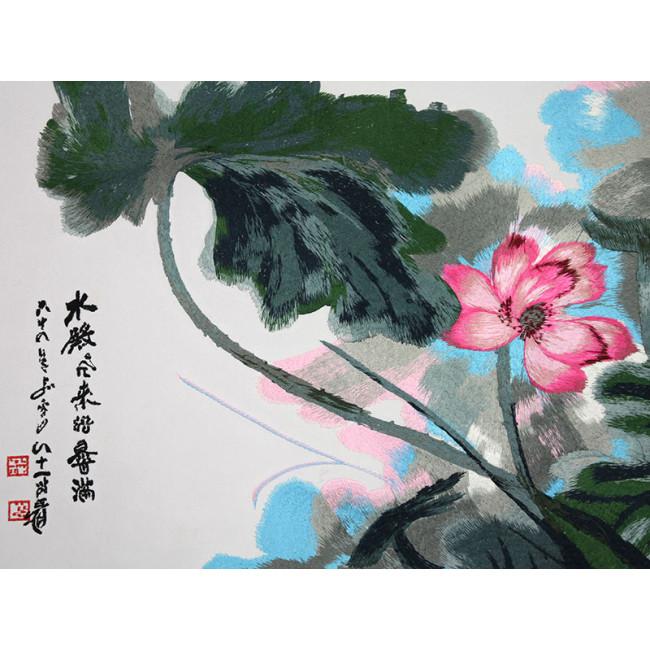 stickbild chinesische blumen rosa lotos chinesisches. Black Bedroom Furniture Sets. Home Design Ideas