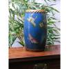 """Chinesische Trommel """"Schmetterling im Tropenwald"""", blau"""