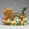 Chinesischer Feng Shui Drachen Figur Tang-Keramik mit Drachenperle