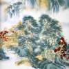 """Chinesisches Bild """"Kiefer am Fluß"""", Wandbild Porzellan"""