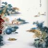 "Porzellanbild ""Pavillon am Fluß II"", chinesisches Bild Keramik"