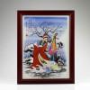 "Chinesisches Porzellanbild ""Wang Zhaojun"" - Die Vier Schönheiten, Wandbild Porzellan"