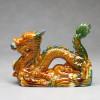 Chinesische Drachen Figur im Tang-Keramik-Stil, Drachenperle