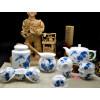 """Teeservice Porzellan """"Der Hahn"""", chinesisches Tierkreiszeichen, Teezeremonie"""