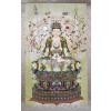 "Rollbild ""Avalokiteshvara mit Tausend Armen"" (Stoff)"