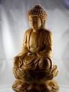 "Buddha Holzskulptur ""RuLai der Erleuchtung"""