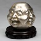 "Buddha-Kopf Messing ""Vier Emotionen"", silberfarben"