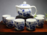 "Chinesisches Teeservice Porzellan ""Lotusblume"""