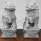 Steinfiguren Wächterlöwen aus Jiaxiang Original Chinesischer Steinskulptur