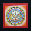 Thangka, Kalachakra Mandala, rot