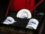 """Chinesische Teetasse mit Deckel """"Zauber des Lotus"""" Geschenkset"""