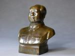 Büste von Mao Zedong Bronze