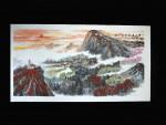 """Chinesische Malerei """"Morgenlicht"""", Peng Guo Lan"""