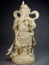 "Blanc-de-Chine ""General Guan Yu"", Figur aus Dehua Porzellan"