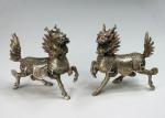 Messing-Figuren Paar  Qilin