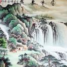 Rollbild, chinesische Landschaftsmalerei