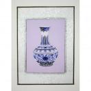 """Stickbild """"Ming-Vase mit Blumenornamenten"""""""