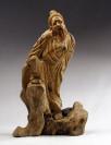 """Wurzelholz-Skulptur """"Ackermann"""", chinesische Holzschnitzerei"""