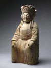 Xi Wang Mu - Holzskulptur sitzend