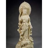"""Blanc-de-Chine """"Yiye Guanyin"""", Figur aus Dehua Porzellan"""