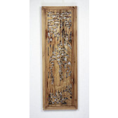"""Chinesisches Fenster, Holzwandbild """"Die Vier Künste"""""""