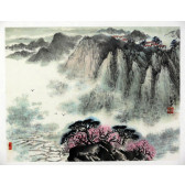 "Peng Guo Lan ""Berglandschaft im Vorfrühling"""