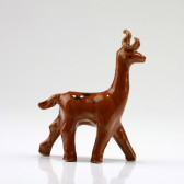 """Bonsai-Figur """"Hirsch"""", Keramik-Deko Sikahirsch"""