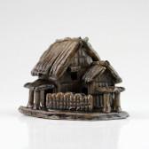 """Bonsai-Figur """"Bambushütte"""", asiatische Keramik-Deko (M)"""