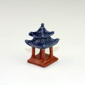 """Bonsai-Figur """"Pavillon"""" quadratisch, Keramik-Deko"""