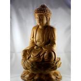 """Buddha Holzfigur """"RuLai der Erleuchtung"""""""