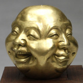 """Buddhakopf """"Vier Emotionen"""", goldfarben"""