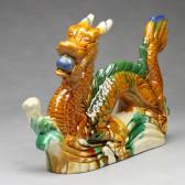 Chinesische Drachen-Figur mit Drachenperle groß, linksgewandt