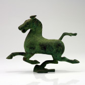 """Chinesische Bronzefigur """"Fliegendes Pferd"""", Replik"""